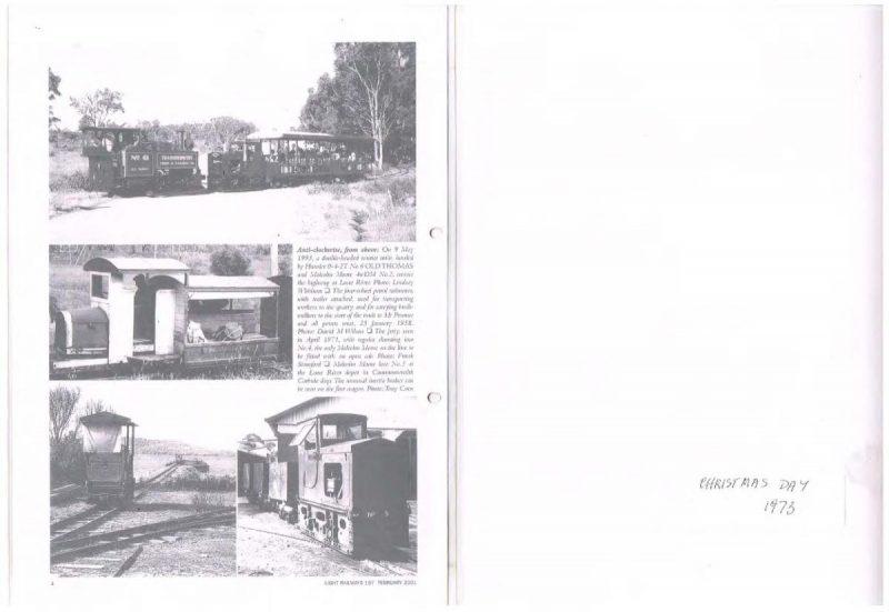 Ida Bay railway history 24